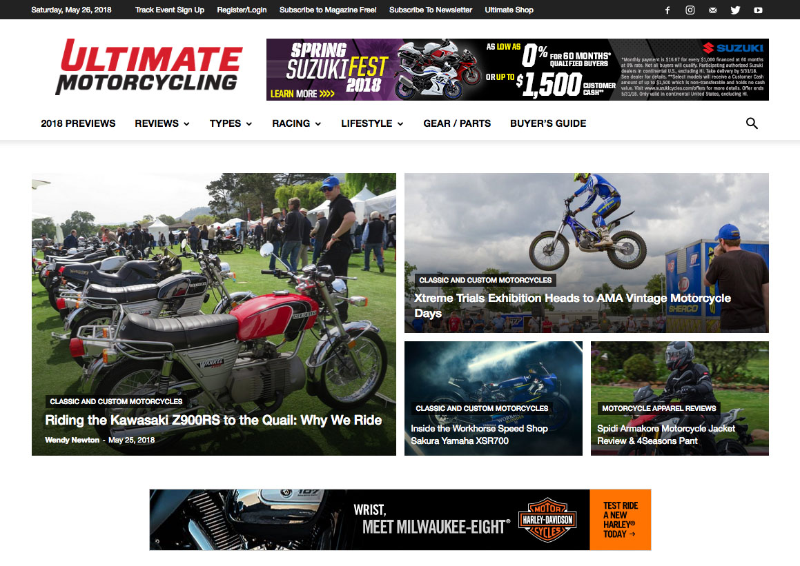 Thank you to Ultimate Motorcycling for mentioning us!